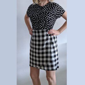 1980's Checked Wrap Skirt